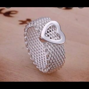 Cute Mesh Heart Ring.